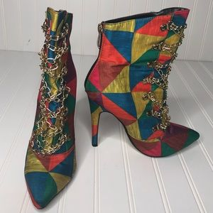 Cape Robbin multicolored booties with chains, 7